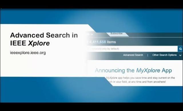 Advanced Search in IEEE Xplore